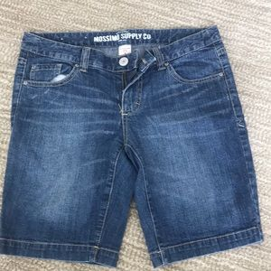 Mossimo Supply Co demin jean shorts Bermuda